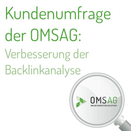 Kundenumfrage zur Verbesserung der Backlinkanalyse