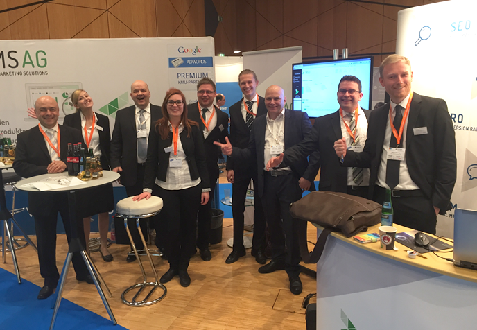 Team der Online Marketing Solutions AG auf der IT&Media