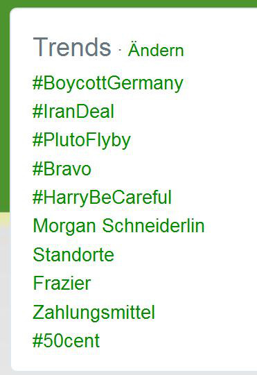 Hashtags Trend Liste