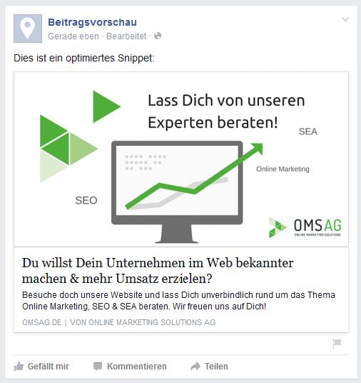 Optimiertes-Facebook-Snippet