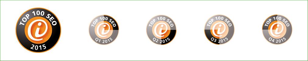 SEO Top 100-Listing: Die OMSAG hat sich in allen vier Quartalen 2015 erfolgreich beworben.