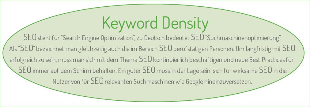 SEO-Irrtümer Teil 2 - Keywords Density