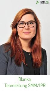 Blanka Szczebak, Social Media-Teamleiterin der OMSAG