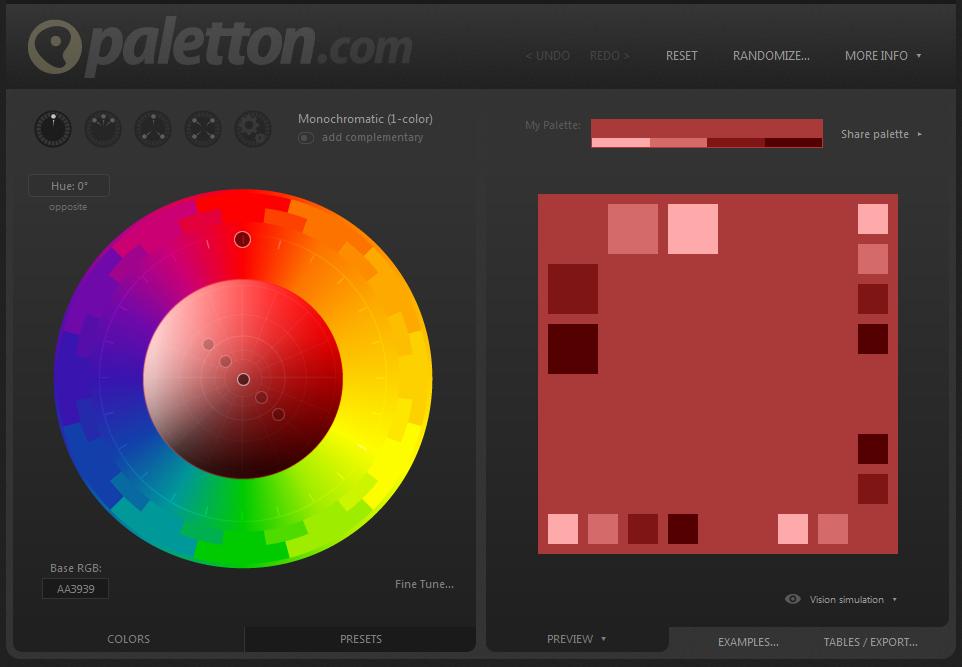 OMSAG-Blog: Einfluss von Farbpsychologie auf Conversion Rate-Optimierung_Tool Paletton
