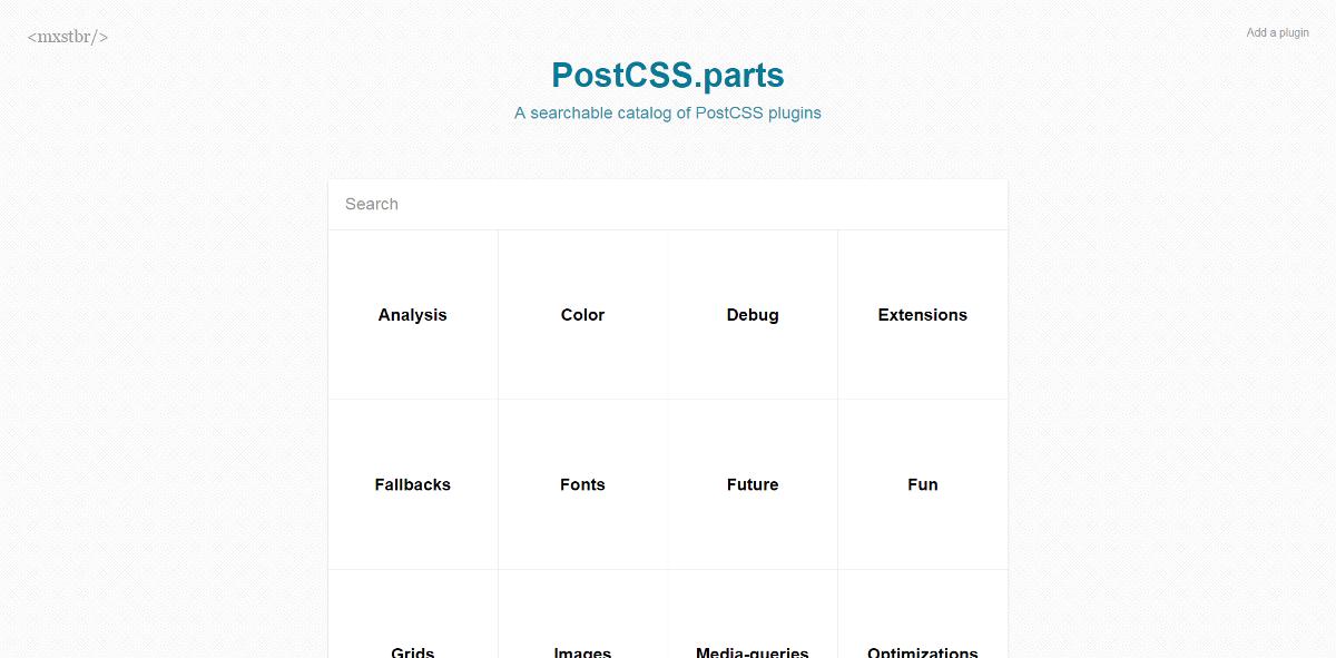 Übersicht von PostCSS-Plugins