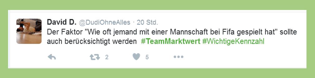 """Fußball-Bundesliga: Statement zu """"Team Marktwert"""" - DudiOhneAlles"""