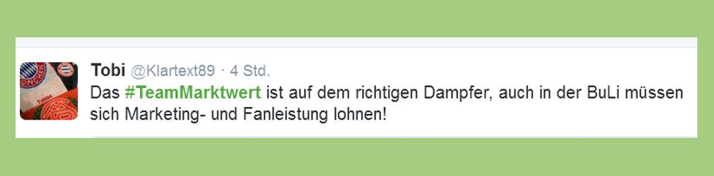 """Fußball-Bundesliga: Statement zu """"Team Marktwert"""" - klartext89"""