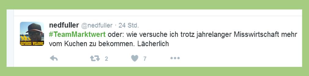 """Fußball-Bundesliga: Statement zu """"Team Marktwert"""" - nedfuller"""
