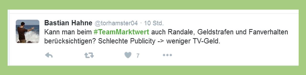 "Fußball-Bundesliga: Statement zu ""Team Marktwert"" - torhamster04"