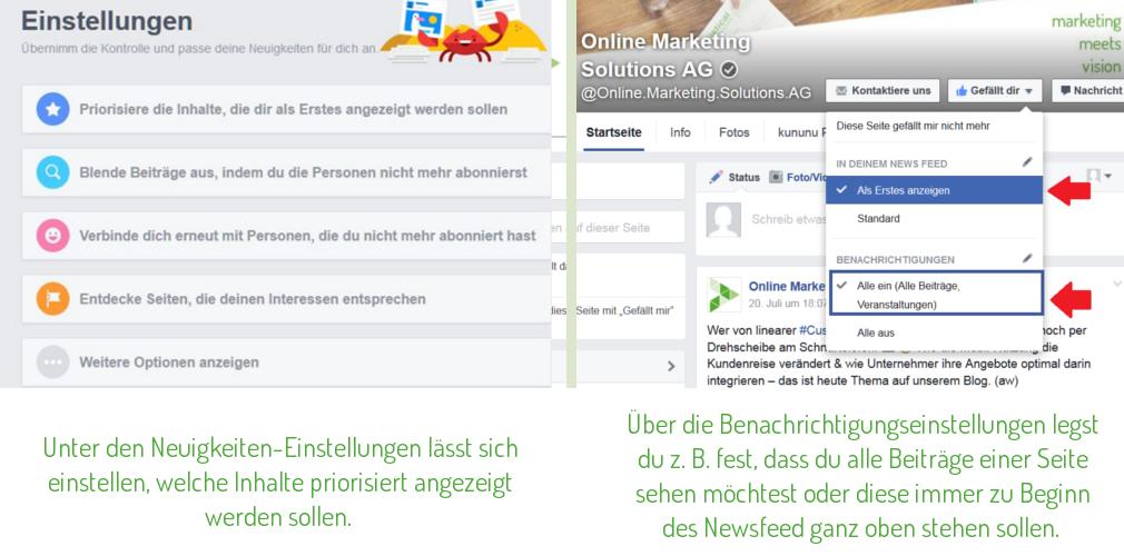 OMSAG-Blog: Individuelle Facebook-Seiteneinstellungen