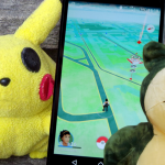 Pokémon Go: App-Screenshot und Pokémon-Collage
