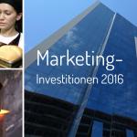 Marketing-Investitionen kleiner und großer Unternehmen in Deutschland.