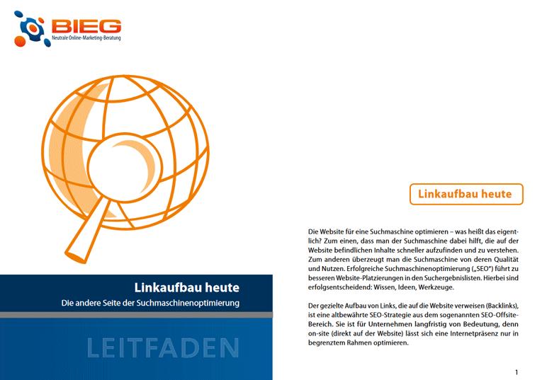 BIEG Guide zum Thema SEO-Offpage mit dem Titel: Die andere Seite der Suchmaschinenoptimierung