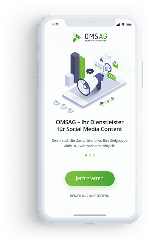 Social Media Agentur OMSAG - Hero Shot Tablet SMM-Statistiken