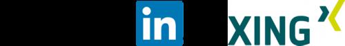 OMSAG - Wissen - Social Media Marketing Guide - Logo LinkedIn und XING