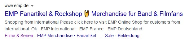 Beispiel Screenshot Google Ads emp.de