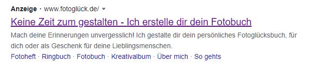 Beispiel Screenshot Google Ads fotoglück.de