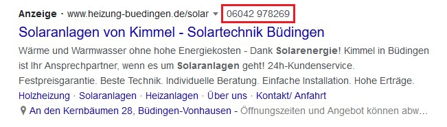 Beispiel Screenshot Google Ads elektro-schmied.de
